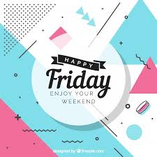 friday background with message vector free