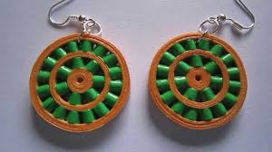 handmade paper earrings handmade jewelry paper quilling wheel earrings not