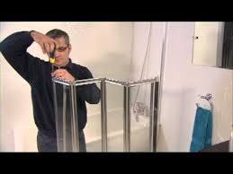 aqua 4 4 fold bath screen installation video youtube