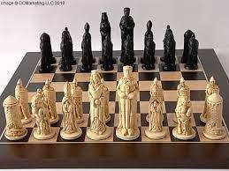fantasy chess set camelot plain theme chess set small chess pinterest chess