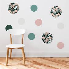 circular patterned wall stickers by nutmeg notonthehighstreet com circular patterned wall stickers