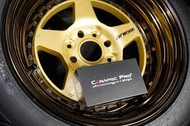 lexus yellow brake calipers wheel protection coating ceramic pro wheel and caliper