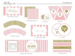 baby shower decoration printable templates pop pink u0026 gold u2013 xo