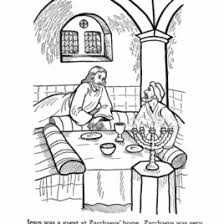 Coloring Page Jesus And Zacchaeus Archives Mente Beta Most Zacchaeus Coloring Page
