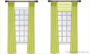 Hanging Drapes From Ceiling The Best Way To Hang Draperies Or Curtains Newton Custom Interiors