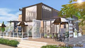 sims4 container coffee shop no download link ruby u0027s home design