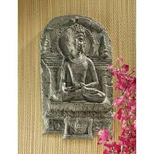 sculpture home decor amazon com design toscano earth witness buddha wall sculpture c