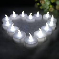 buy youngerbaby 24pcs cool white flameless candles with timer 6