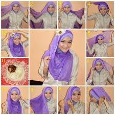 tutorial memakai jilbab paris yang simple cara memakai hijab paris alam maya