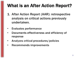 after report template the importance of after reports
