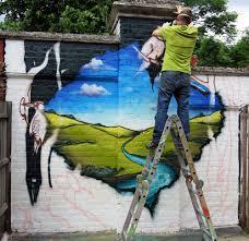 garden wall graffiti mural aero london graffiti mural artist
