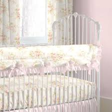 girls lilac bedding shabby chenille crib bedding pink floral baby crib bedding