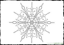 beautiful doodle art snowflake coloring free printable