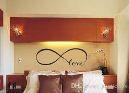 personalized infinity symbol bedroom vinyl wallpaper diy wall
