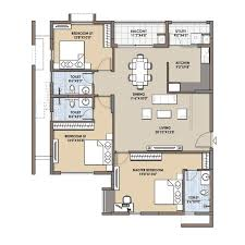 2 bhk 3 bhk flats floor plans fortius infra bangalore