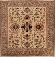 persian heriz beige square 9 ft and larger wool carpet 13308