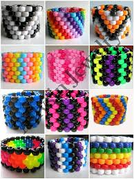 beaded cuff bracelet patterns images Custom kandi cuff create your own rave jewelry you pick colors jpg