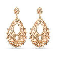 danglers earings cubic zirconia trendy danglers by ameerah in contemporary fashion