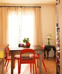 breakfast nook curtain ideas kitchen eclectic with window