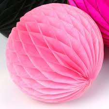pink tissue paper pink tissue paper honeycomb in 3 sizes pipii