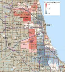 chicago zip code map chicago home price changes by zip code getting real
