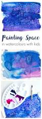 how to paint space in watercolours with kids adventure in a box