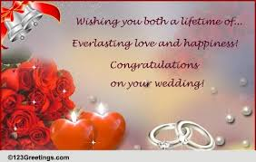 wedding greetings card wedding bells ringing free congratulations ecards greeting cards