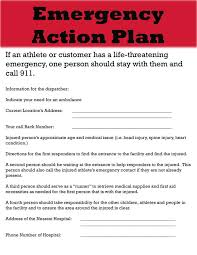 emergency action plan template on emergency action plan template