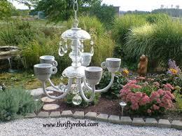 Repurposing Old Chandeliers Old Chandelier Makeover Into Garden U0027candelier U0027 Hometalk