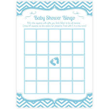 boy baby shower bingo cards blue baby feet design m u0026h invites
