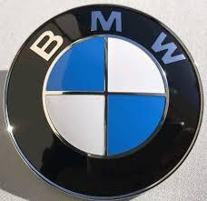 blue white bmw logo 82mm 3 1 4in ornament emblem badge