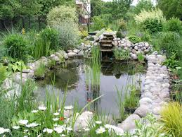 Pond Ideas For Small Gardens by Lawn U0026 Garden Chic Landscaping Small Pounds With Grey Natural