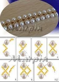 bead pearl bracelet images A pattern for a necklace or bracelet pinterest pearl bracelet jpg