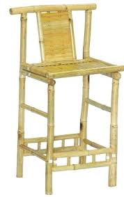 Wooden Bar Stool With Back Bar Stool Distressed Natural Elm Wood Bar Stool With Back Bamboo