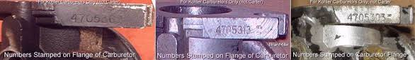 kohler serial number significance table a 1 miller s performance enterprises parts services online catalog