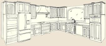 Kitchen Design Drawings Smart Design Kitchen Cabinet Drawing Drawing What You On Home