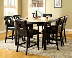 furniture agreeable counter dining set height table large