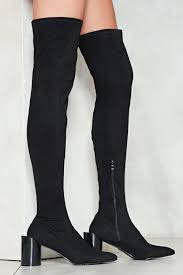 the edge of glory thigh high boot shop clothes at nasty gal