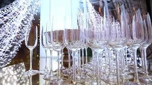 Restaurant Buffet Table by Glasses With Alcohol And Different Drinks Glasses Of Wine And