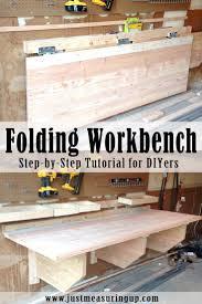 workshop plans garage workbench outstanding foldingnch garage image design work