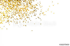 happy new year backdrop gold glitter isolated on white background decoration party merry