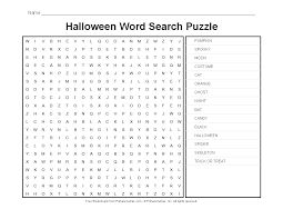 halloween worksheets halloween word search puzzle primarygames
