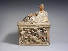 terracotta cinerary urn etruscan hellenistic the met