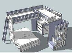 Loft Bed Plans Free Online by Bunk Bed Plans Bunk Beds With Stairs By Dshute Lumberjocks