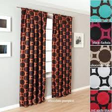 orange geometric curtains love the orange a rod pocket orange and