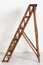 Library Ladders Handmade French Folding Library Ladder At 1stdibs