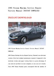 28 1995 nissan maxima service manual 126927 1995 nissan