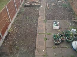patio slabs and drain cover garden landscape gardening job in