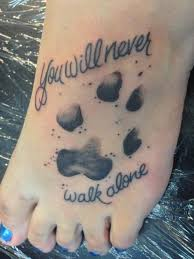 looking for a paw print tattoos beautiful
