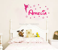 name wall stickers for kids home design ideas captivating personalized tinkerbell custom name wall art vinyl wall quote home decals kids room decoration children